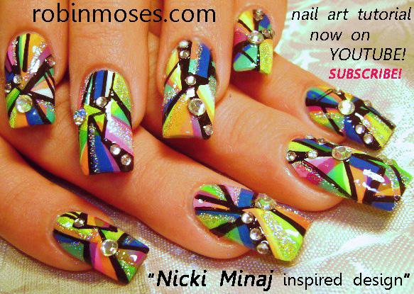Nail Art Design Nicki Minaj Its Barbie Nail Art Nicki Minaj