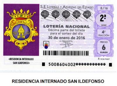 Lotería Nacional 30 de enero de 2016