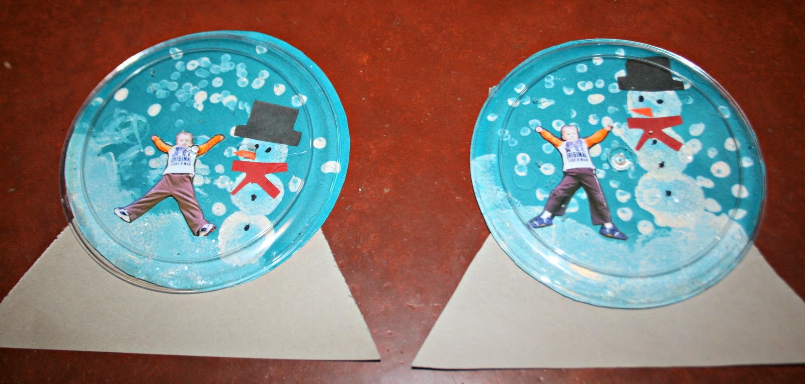 two bears farm and the three cubs cute snow globe craft