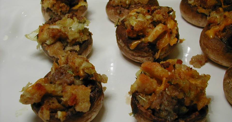 Cooking Tip of the Day: Recipe: Sausage and Cheddar Stuffed Mushrooms
