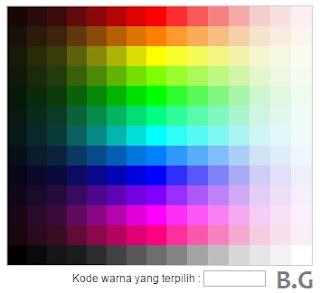 cara memasang isyarat warna pada blog