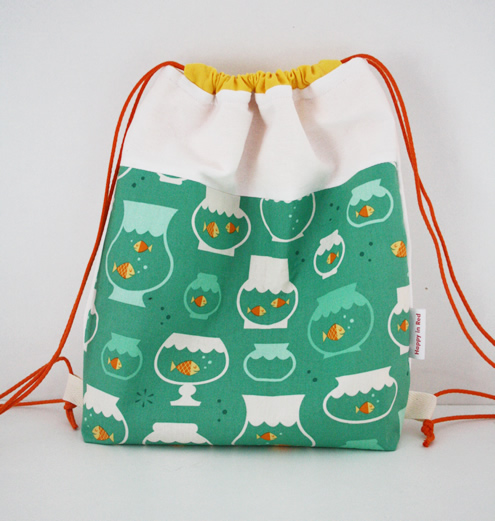 Drawstring backpack: fish