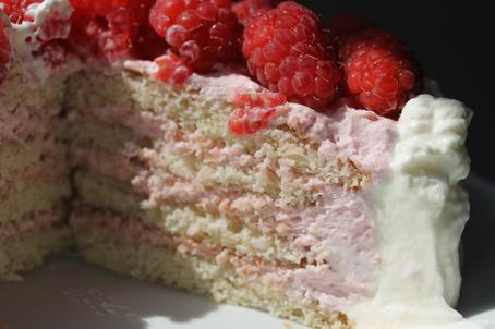 Mia's Lactose Free Kitchen: Raspberry cream layered cake