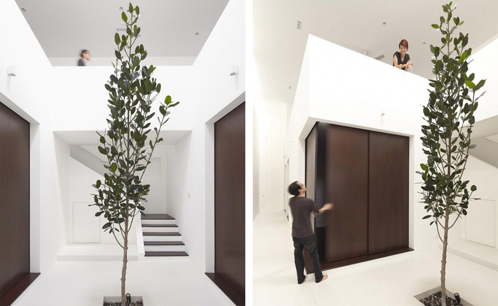Casa con pannelli scorrevoli e giardini interni a kuala - Giardino interno casa ...