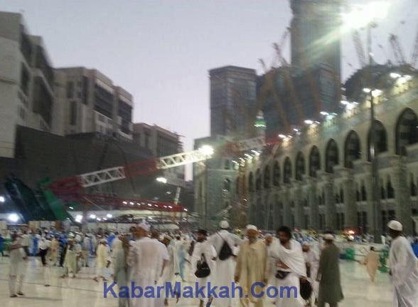 Korban masjidil haram roboh