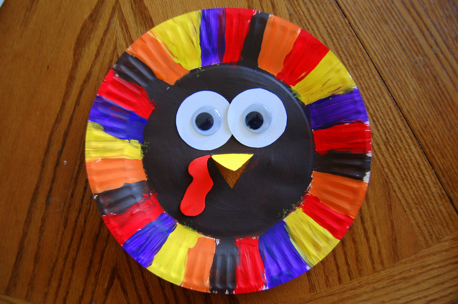 i heart crafty things paper plate turkey craft On paper plate thanksgiving crafts