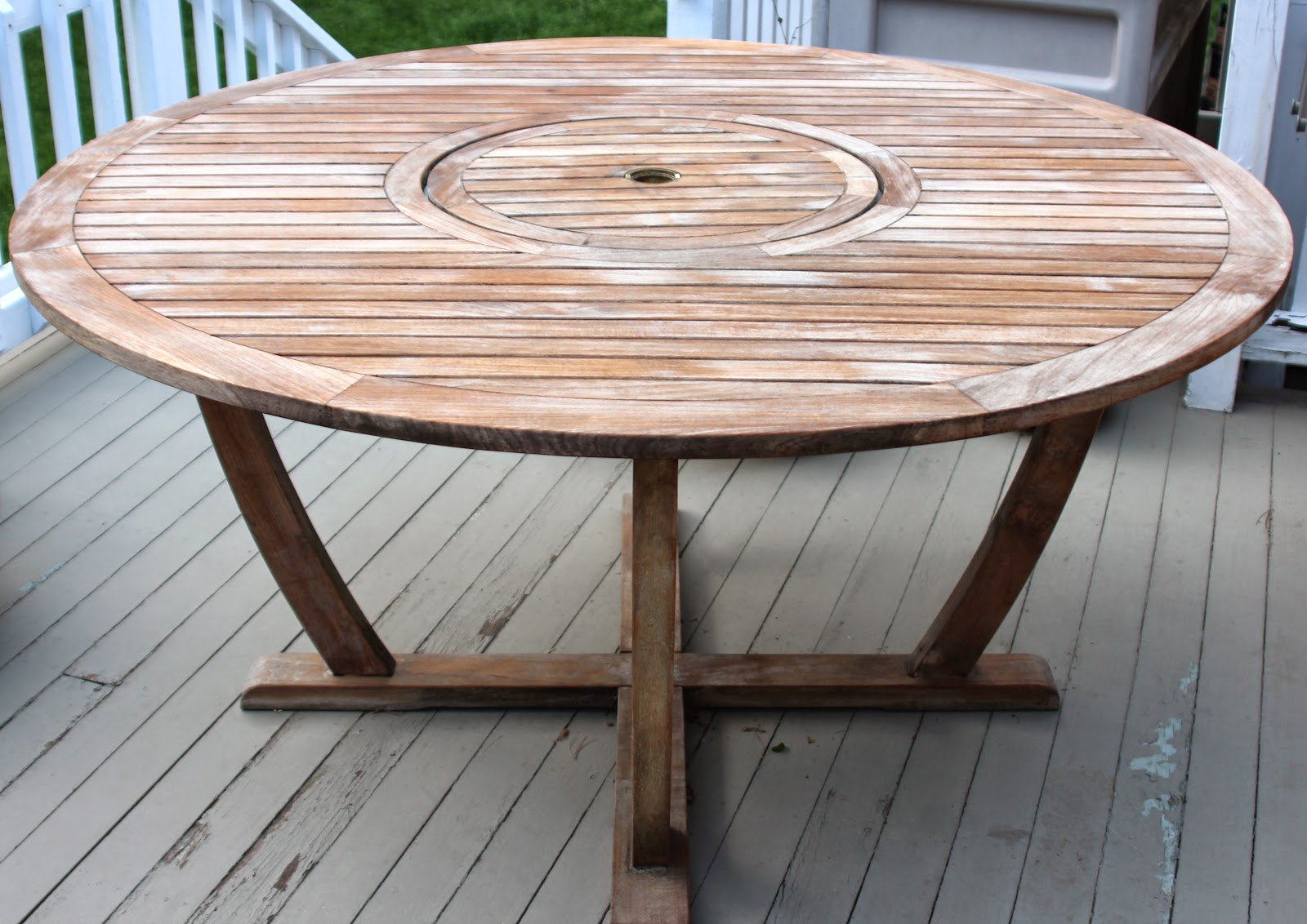 how to clean unpainted wood of grese