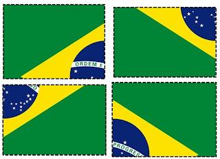 atividade  quebra cabeça bandeira do Brasil