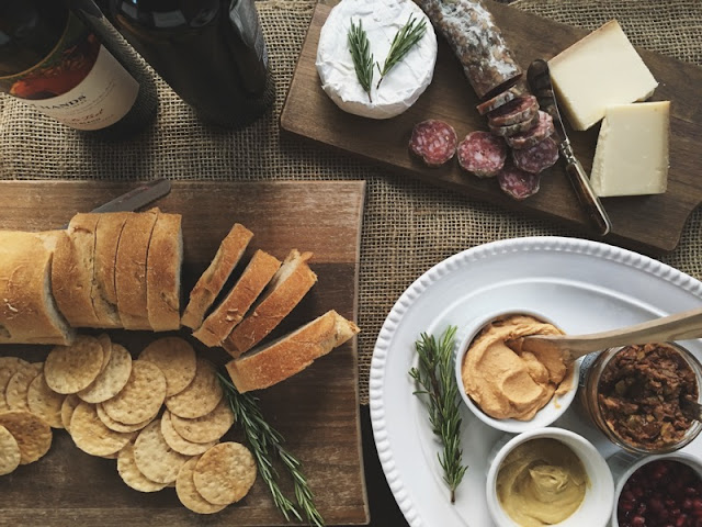 a portland local, gluten free appetizer spread.