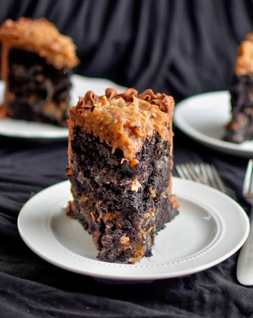 Yammies Noshery The Best German Chocolate Cake In All The Land - Sliced chocolate is finally here and we know our life will never be the same again
