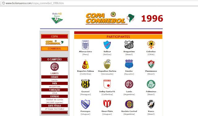 cda0f4d2a0 Participação vascaína na Copa Conmebol de 1996 como