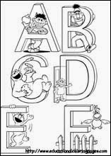 Alphabet coloring pages munchkins and mayhem for Sesame street number coloring pages