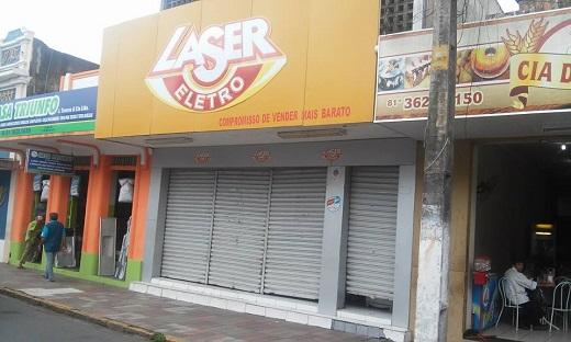Laser Eletro é assaltada em Limoeiro na manhã desa Quinta-feira