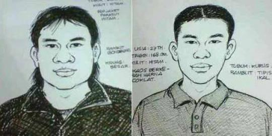 Sketsa Pelaku Penembakan Anggota Kepolisian Polsek Pondok Aren Jakarta