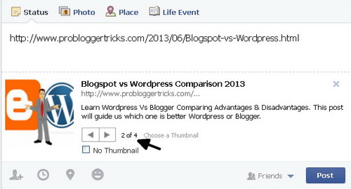 How to Avoid wrong thumbnail image picture in facebook.