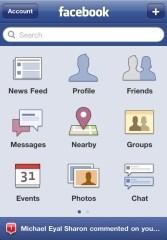 Facebook iOS app updated to version 3.5