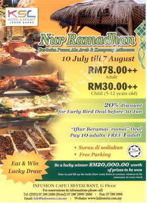 KSL Hotel & Resort Johor Bahru Buffet Ramadhan 2013