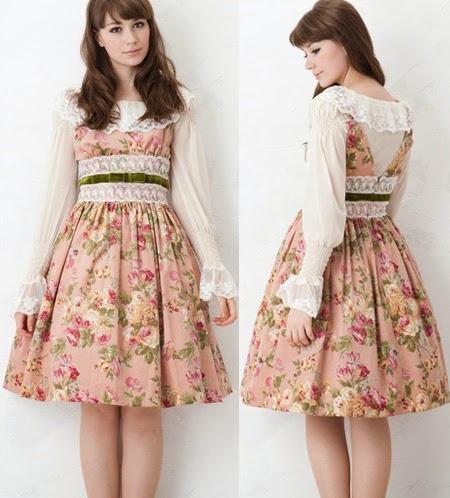 juliette et justine lolita fashion classic chiffon rose