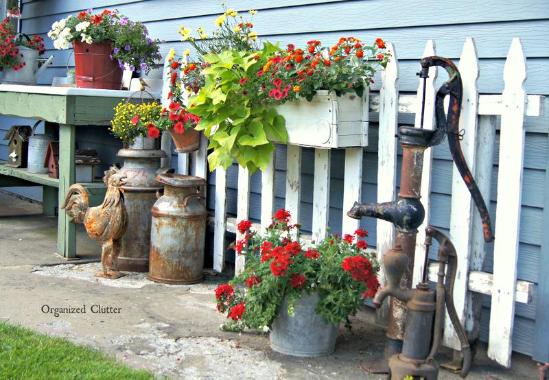 Garden Junk Ideas Galore 2014 Round Up - Organized Clutter: Garden Junk Ideas Galore 2014 Round Up