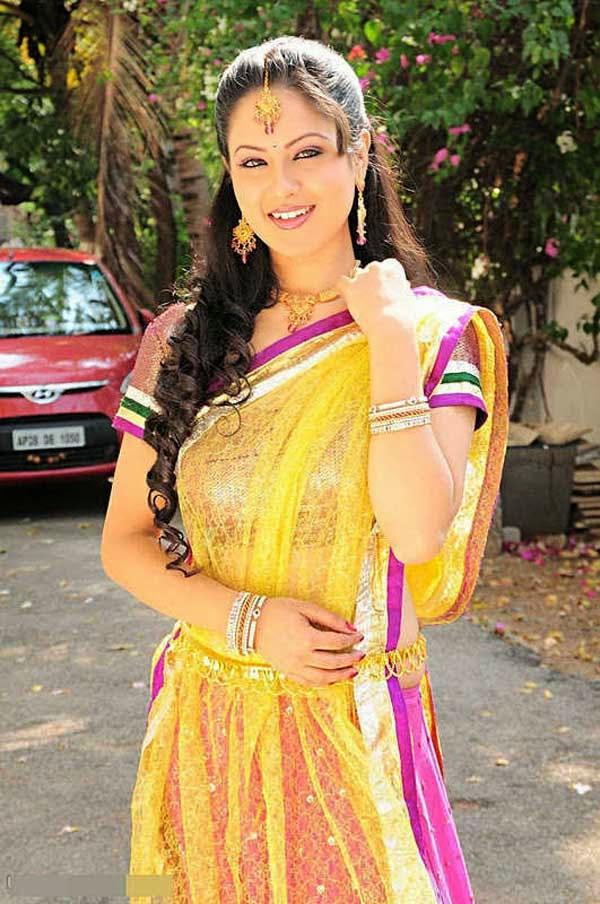 Pooja Bose In Designer Half Saree