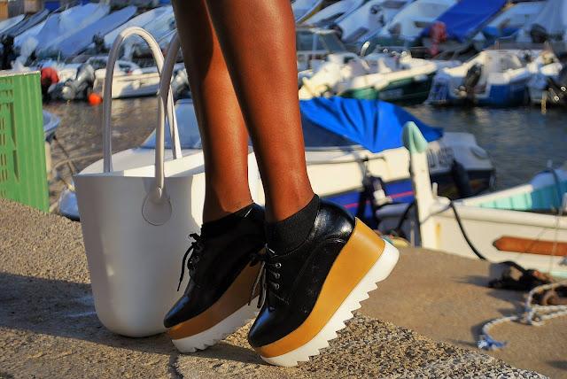 blog mode marseille, sac o bag, chaussures à plateformes plates