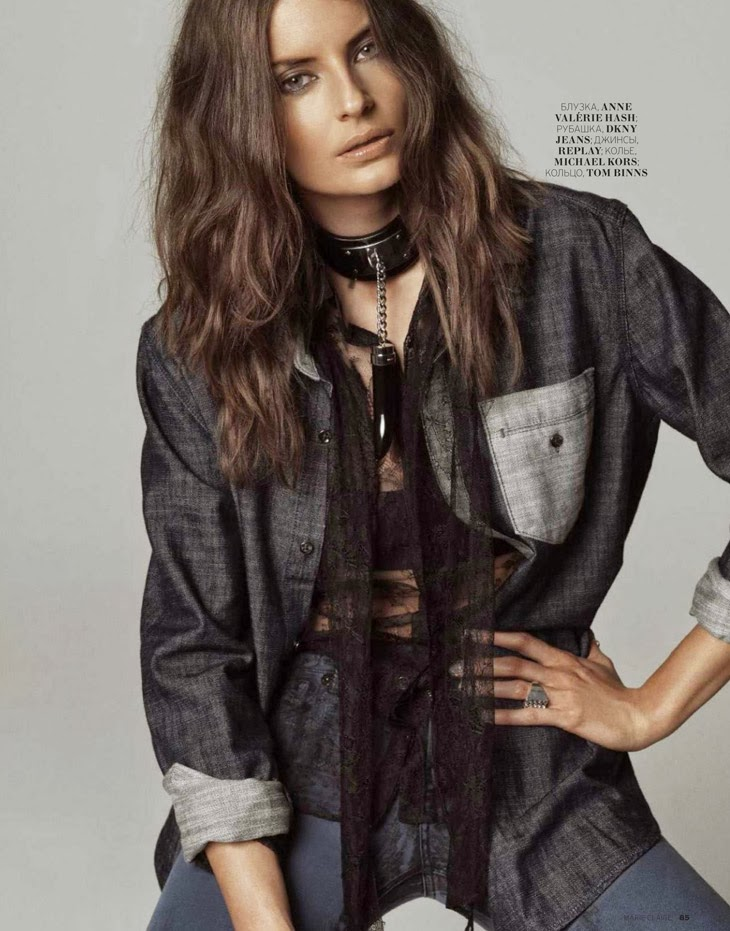 Magazine Photoshoot : Reka Ebergenyi Photoshot For Marie Claire Magazine Russia January 2014 Issue