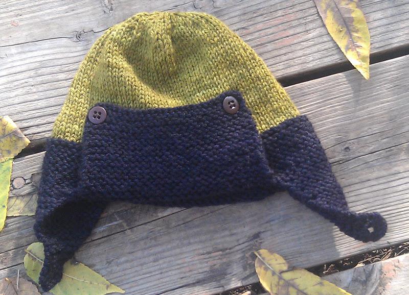 Rockwell s Aviator Hat~ 2012. Pattern is the Regan- Aviator hat by Julie  Taylor ... f28adb1f140