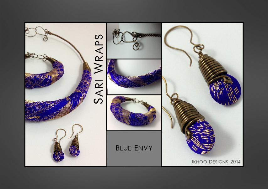 Blue Envy Sari Wraps