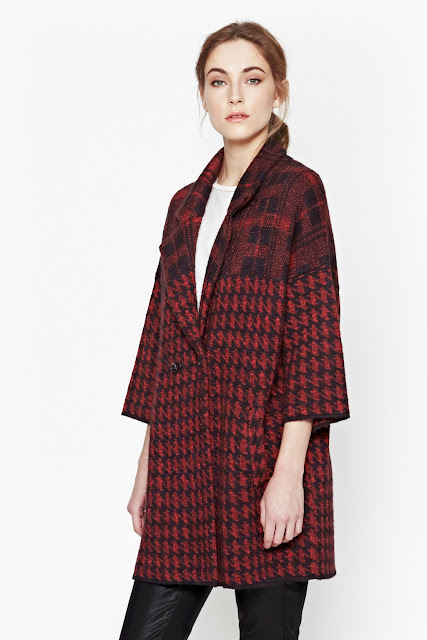 red dogtooth coat