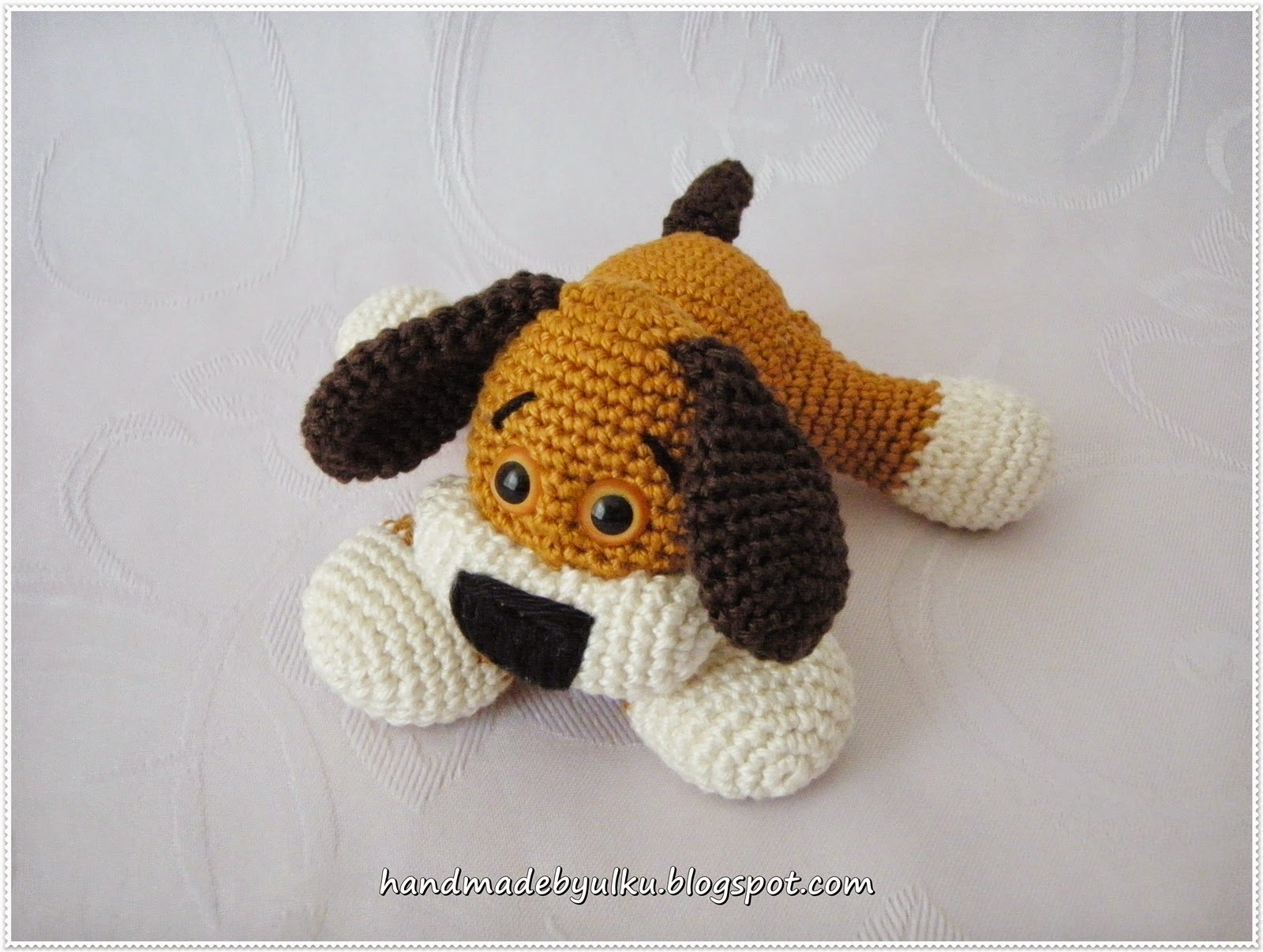 Free Pattern For Amigurumi Dog : Handmade by ?lk?: Amigurumi S??er Hund / Dog