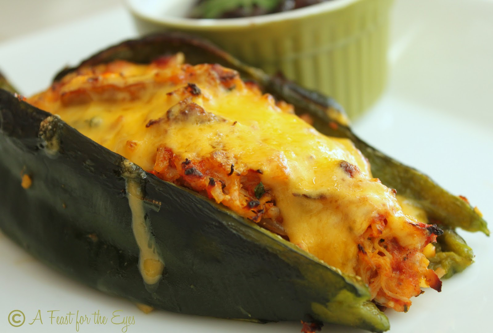 Beer Bean-Stuffed Poblano Peppers Recipes — Dishmaps