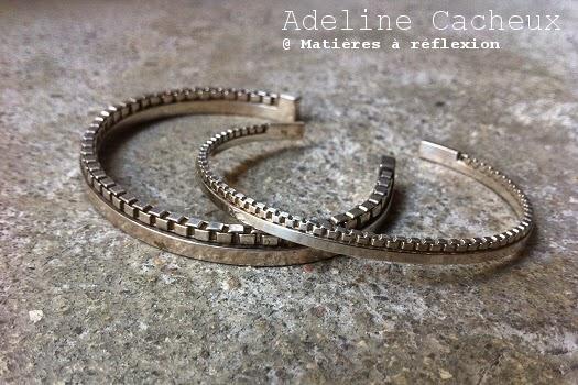Bracelet Jonc Homme argent Adeline Cacheux