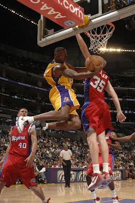 Kobe Bryant Behind The Backboard Shot