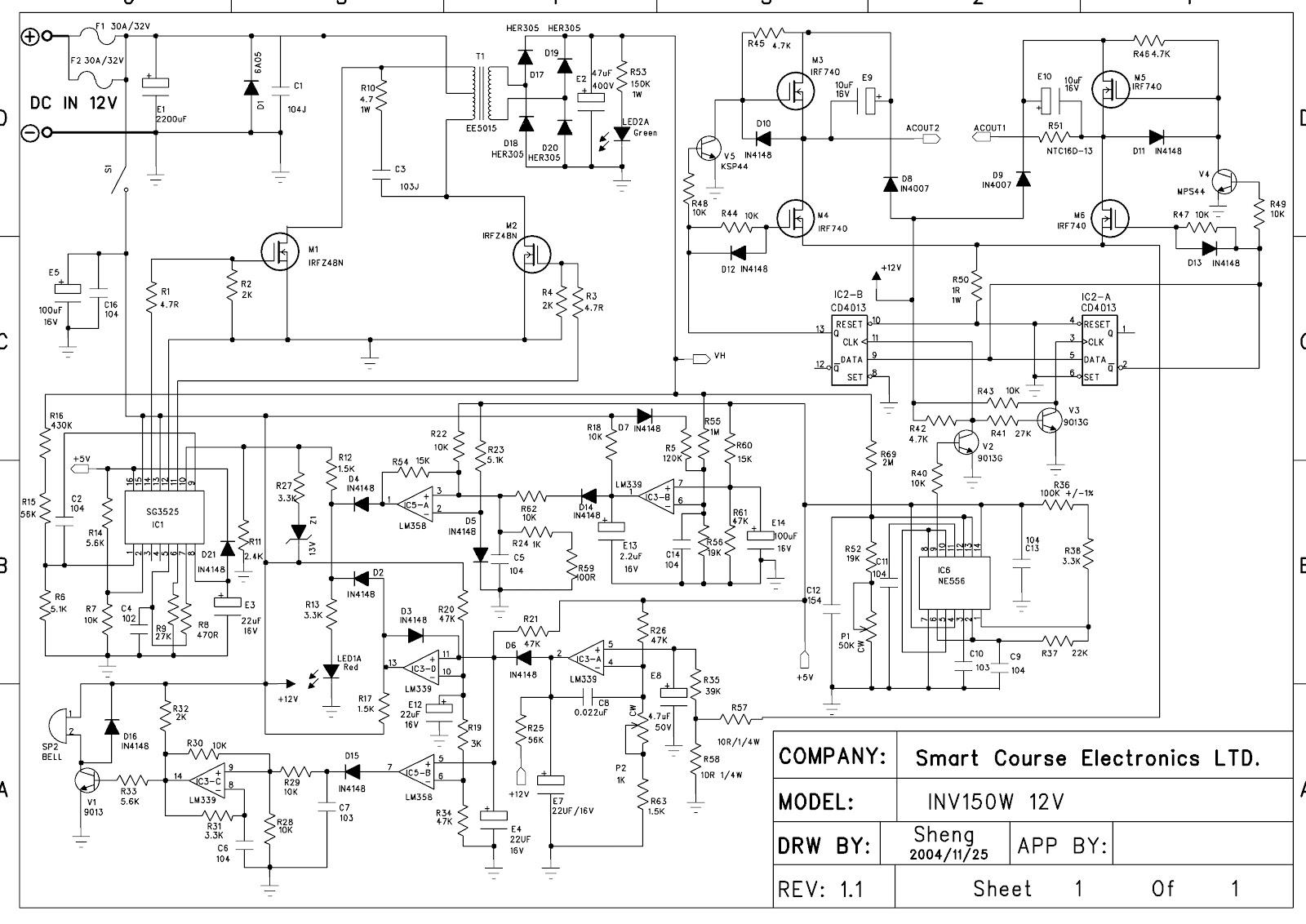 inv150wsch  W Power Inverter Schematic Diagram on off grid, mppt 48v solar, bic pure sine wave power, pure sine wave power, system diagram wzrelb,