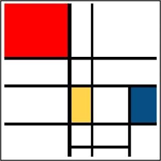 Lookalike de Piet Mondrian