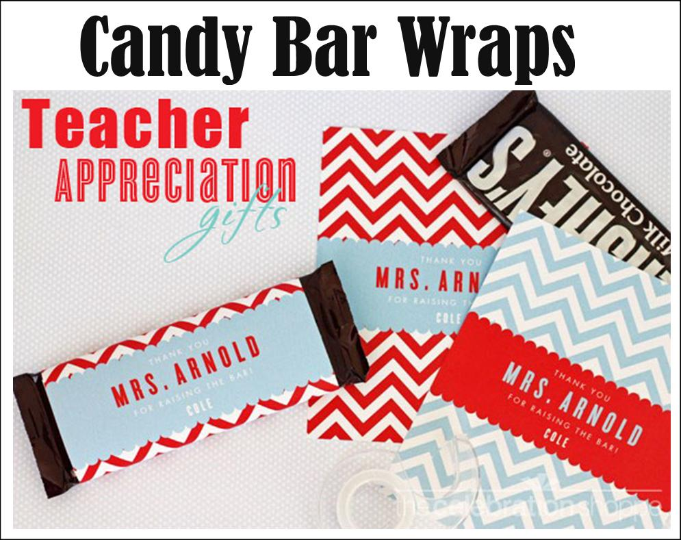 How about a sweet for the teacher? You can customize this candy bar ...