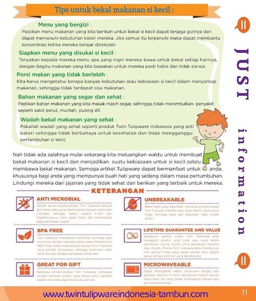Just Info : Tips Untuk Bekal Makanan Si Kecil