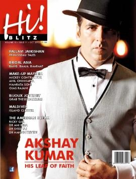 Akshay Kumar on the cover of Hi! Blitz (Oct 2012)