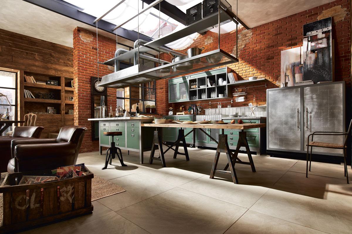 Deco una de cocinas vintage industrial virlova style for Cocina industrial tipo loft