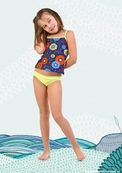 bikinis para niñas verano 2014