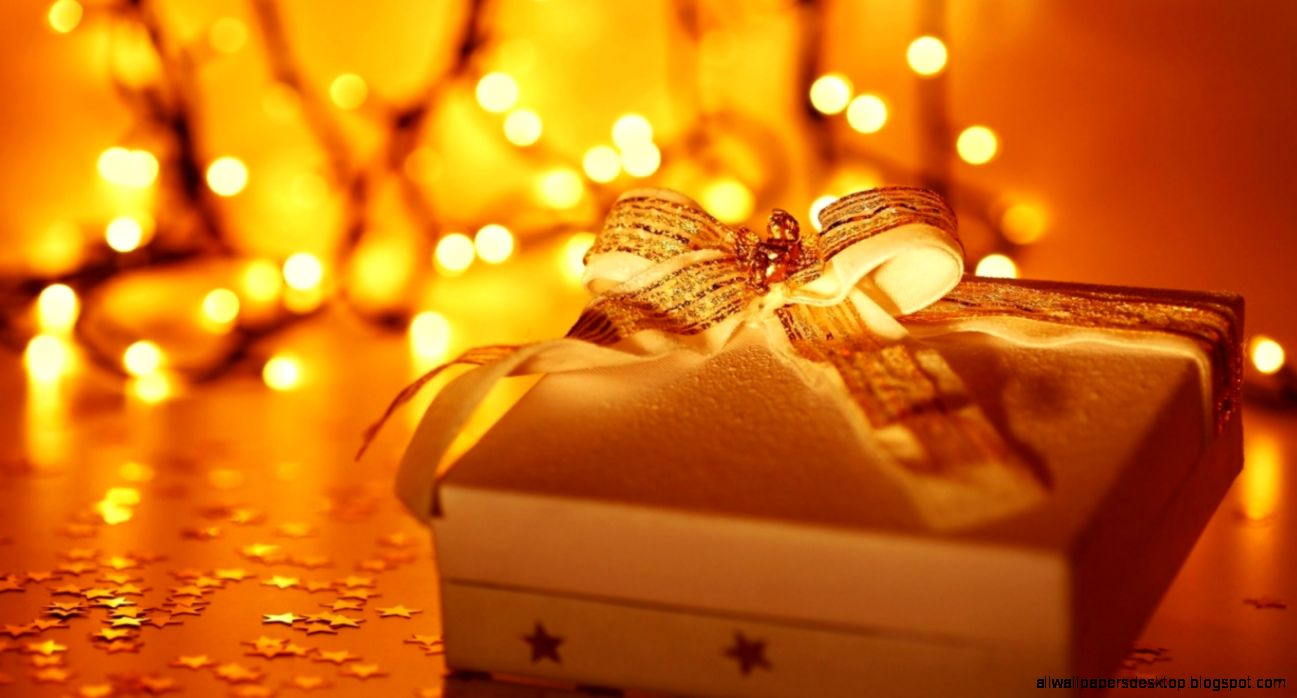 Holiday Gift Box New Year Christmas Lights Hd Wallpaper
