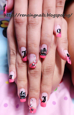 Reneing.Nails: N12450:Juicy Couture inspired nail designs!