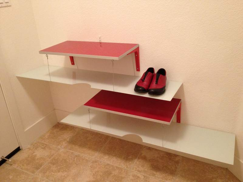 from as is boards and glass into shoe shelving ikea hackers ikea hackers. Black Bedroom Furniture Sets. Home Design Ideas