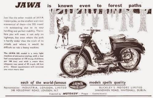 Ulotka reklamowa Jawa 555