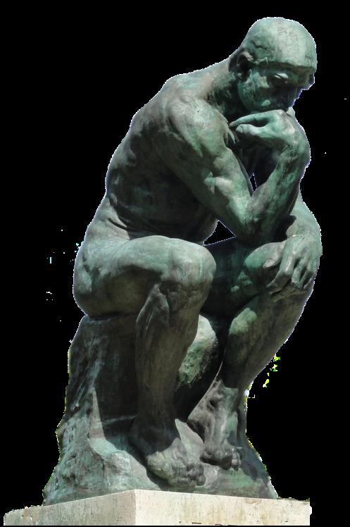 Souvent kART à voir: n°072 Le Penseur (1902)Auguste Rodin XJ73
