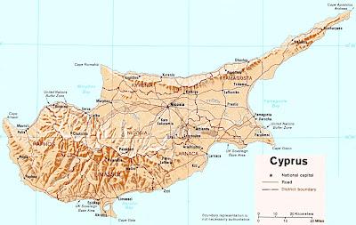 Chipre Mapa del País