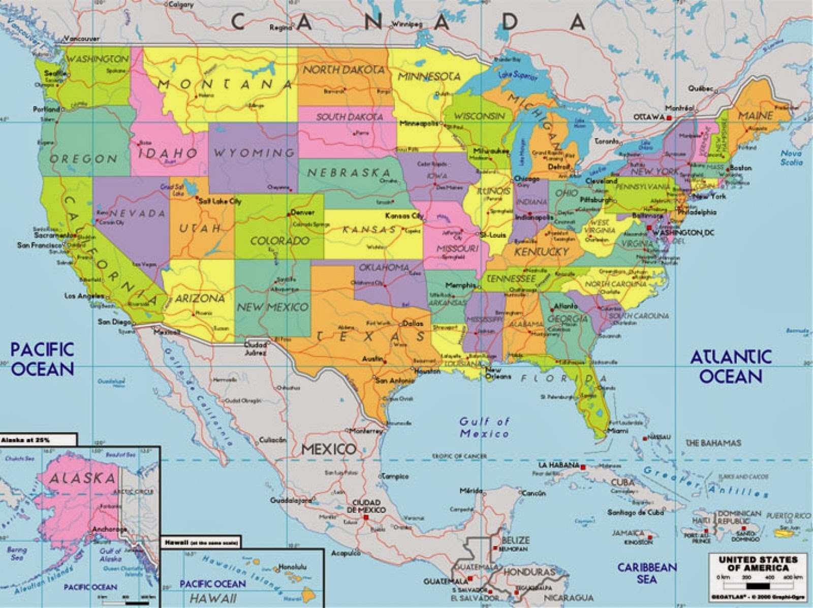 BILINGUAL ALYUSSANA COMPLETE USA MAPS - Mapas usa