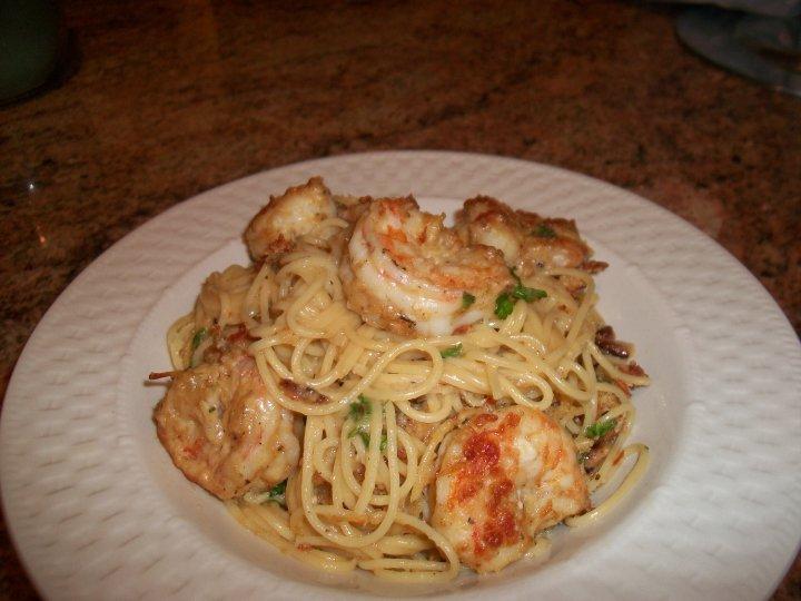 Shrimp Carbonara Recipe — Dishmaps