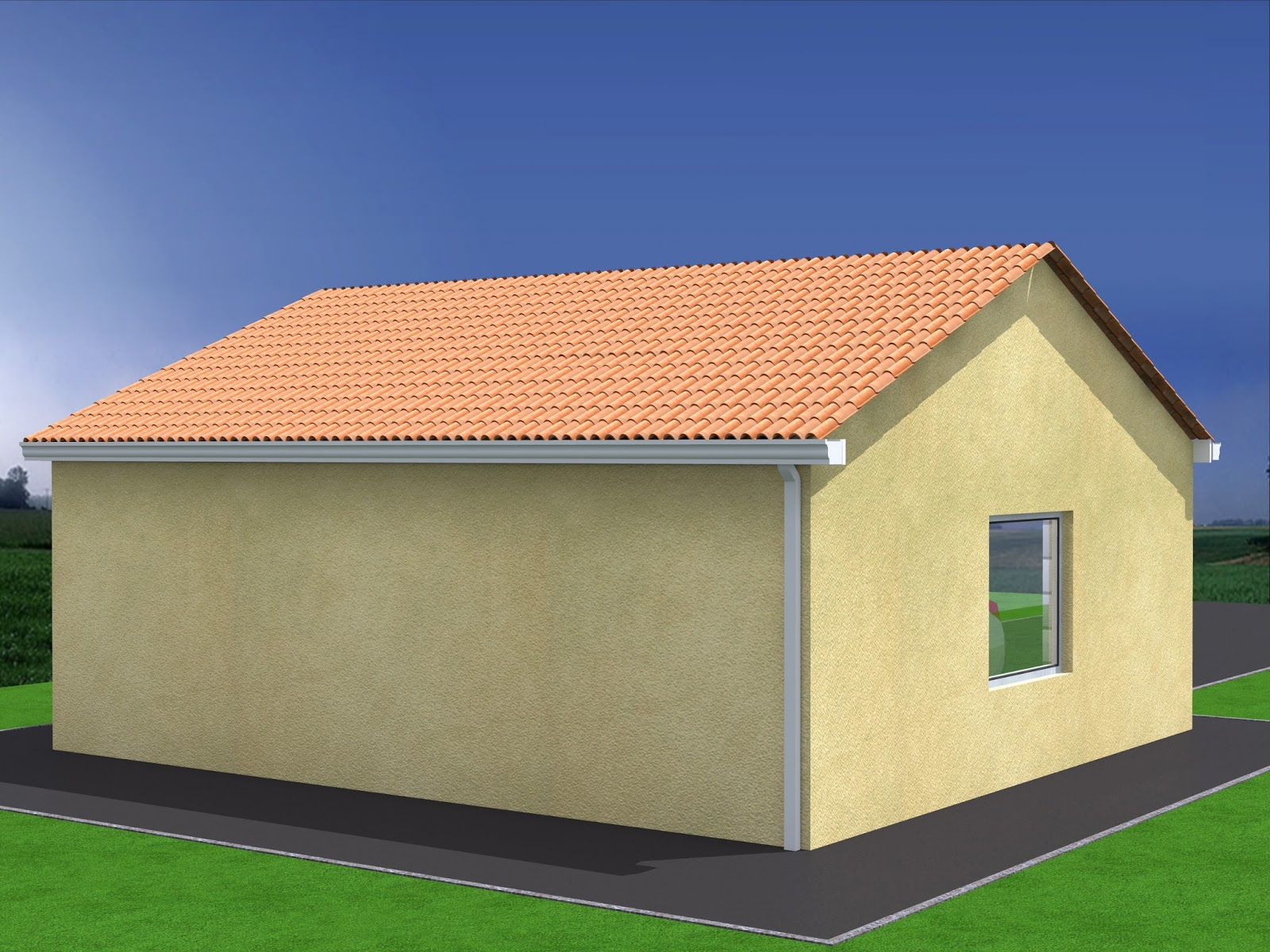 Projet de construction de garage double for Construction garage parpaing