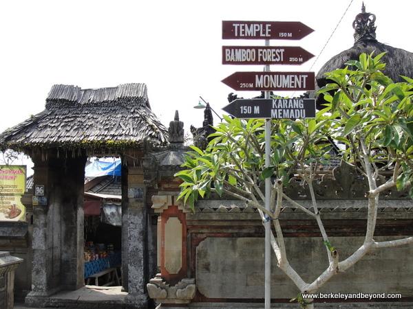 entrance to Penglipuran Village in Bali, Indonesia